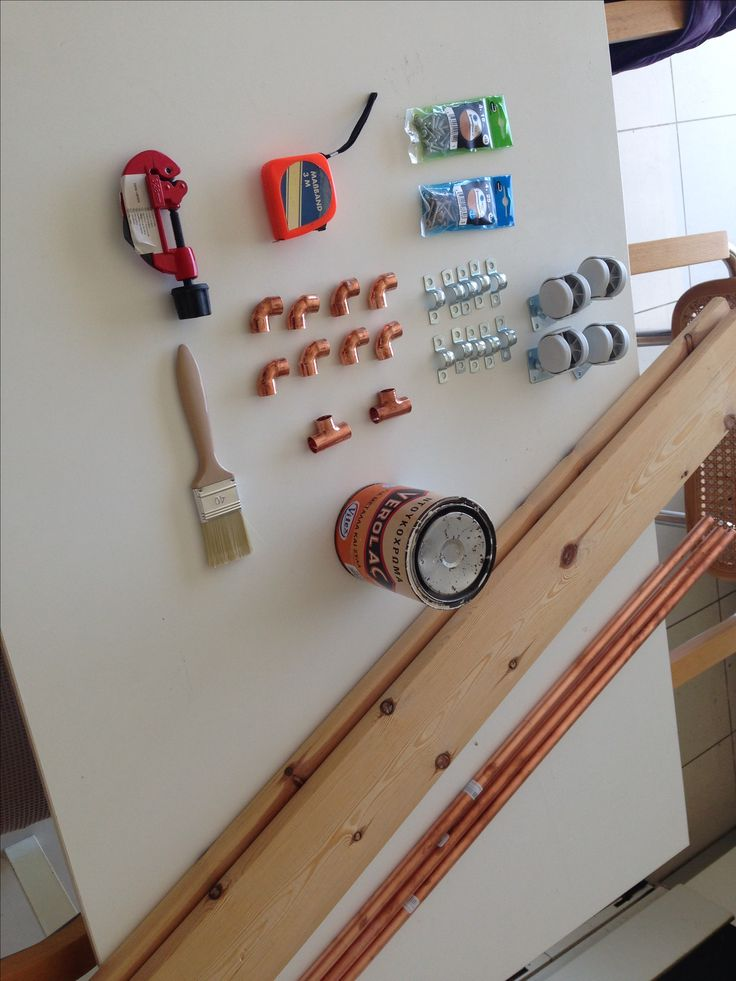 New Project. Wood. Copper pipes. Shoes Rack. Diy
