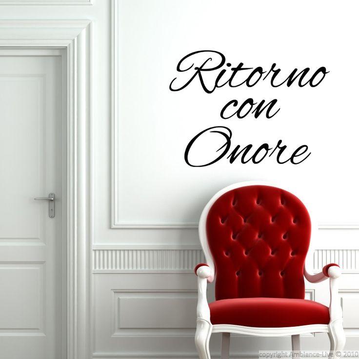 Stickers muraux citations - Sticker Ritorno con onore | Ambiance-live.com