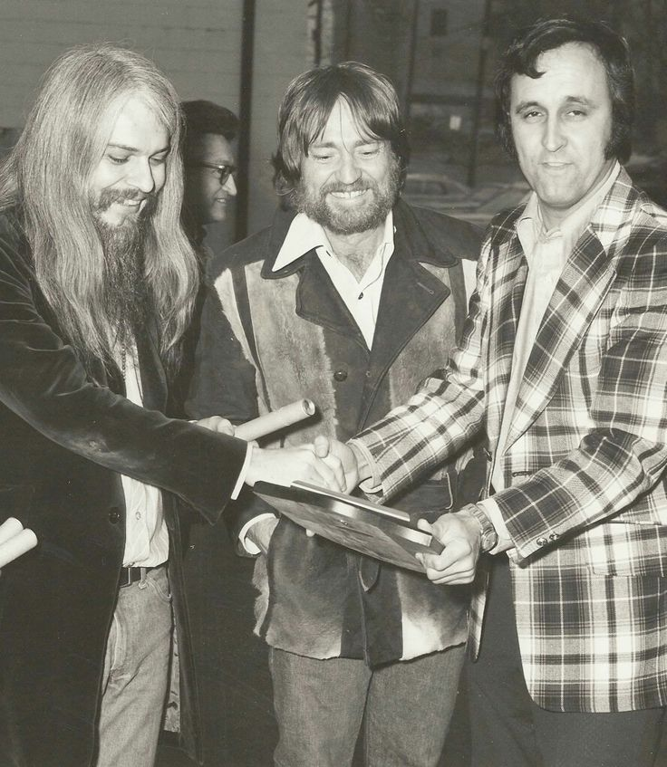 Leon Russell,  Willie Nelson and Charlie Monk