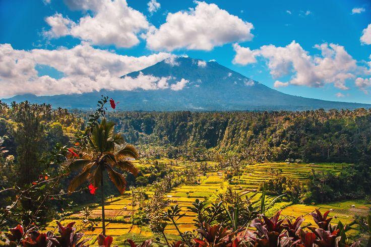 Gunung Agung nær Candidasa er det højeste punkt på hele Bali. Et fantastisk syn møder dig, når du nærmer dig vulkanen. Skyerne kommer fra vest, og idet de bliver presset op over bjerget taber de deres vand. Det vil sige, at vest siden af Gunung Agung er frodig med masser af regn, mens øst er tørt og goldt.