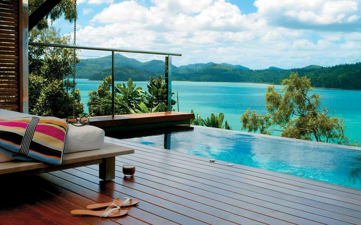 If a front row seat to the Whitsunday Islands in Australia is your idea of heaven, make sure you take a look at the luxurious Qualia Resort for your destination wedding or honeymoon.  Situated on the secluded northern-most tip of Hamilton Island, surrounded by all the splendour of the Great Barrier Reef. Qualia is one of the places NOT TO MISS
