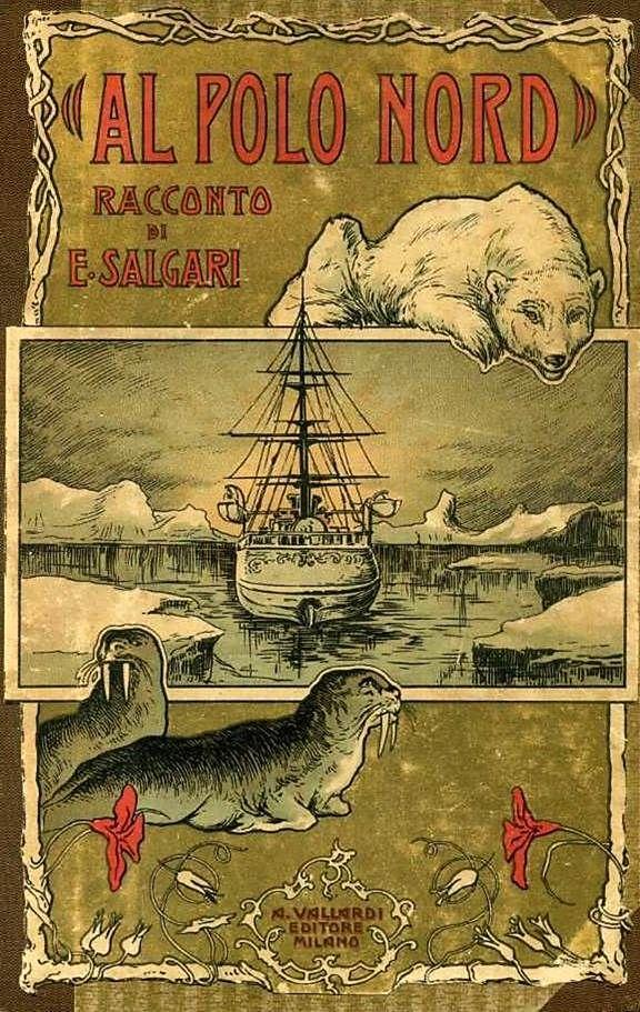 Al Polo Nord - Racconto di Emilio Salgari, Antonio Vallardi 1924