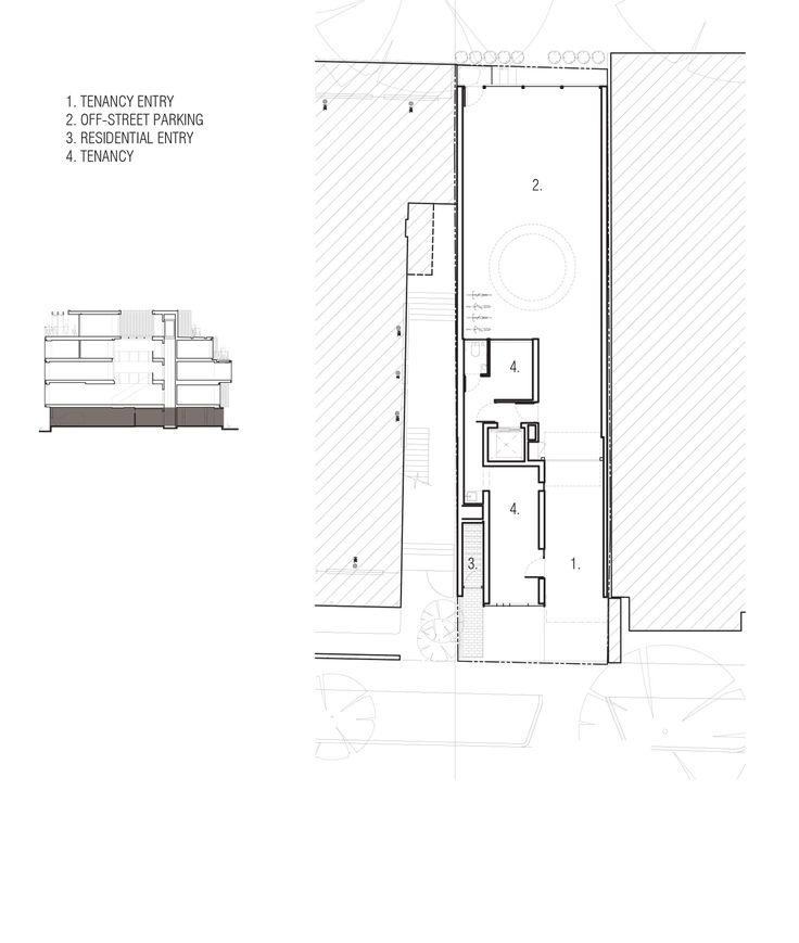 Stacked Zinc Boxes Form Multi Generational House By Matt Gibson Ground Floor Plan Multi Generational Roof Plan Zinc house floor plan