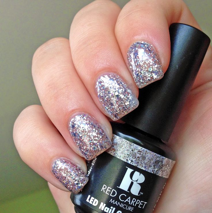 Red Carpet Manicure Cinder-Ella. This is so pretty as a glitter topcoat or alone on the ring finger.