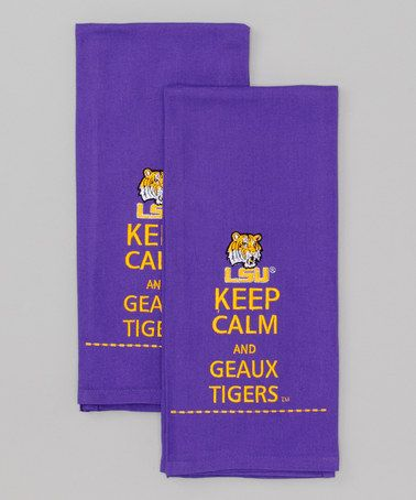 Look what I found on #zulily! LSU Tiger Purple Hand Towel - Set of Two #zulilyfinds