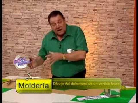 Hermenegildo Zampar - Bienvenidas TV - Explica el dibujo del delantero del vestido base. - YouTube