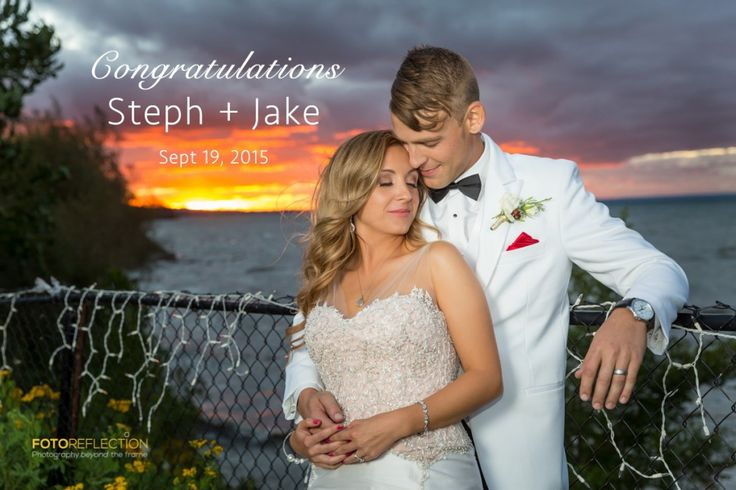Sunset moment with Steph & Jake during their wedding day at the Legends Estates Winery in Ontario.