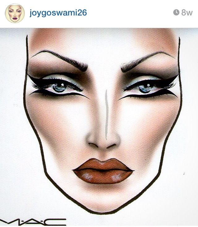 MAC Face Chart by joygoswami26 from Instagram. Beautiful ❤️❤️❤️                                                                                                                            More