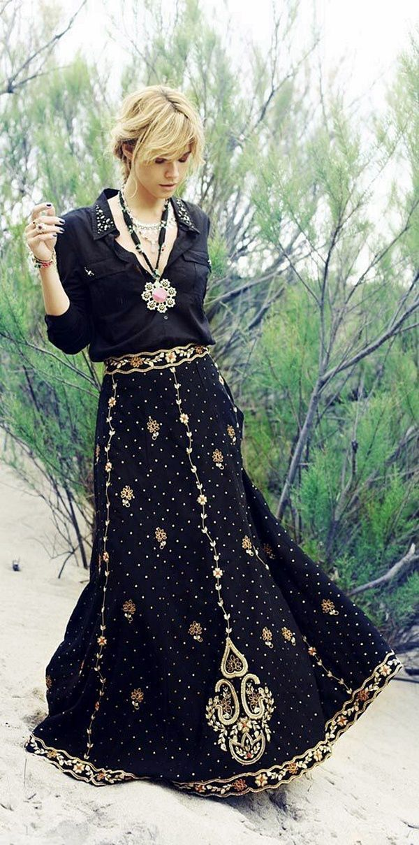 50 + Boho & Gypsy Outfit Ideas For Summer ❤️:: boho fashion :: gypsy style :: hppie chic :: boho chic :: outfit ideas :: boho kimono :: free spirit :: fashion trend :: embroidered :: flowers :: floral :: lace :: summer :: fabulous :: love :: street style :: fashion style :: boho style :: bohemian :: modern vintage :: ethnic tribal