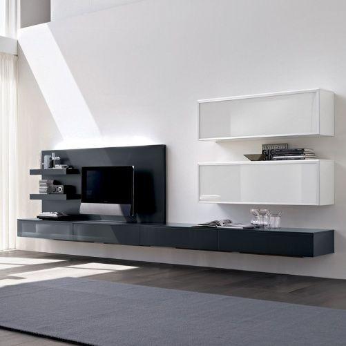 Living Room Storage Units Wall: Nero Wall Mounted TV/Media Storage Unit #5