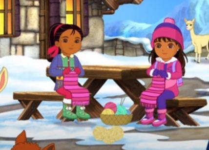 Dora and Naiya from Dora and Friends knitting in 2020 ...