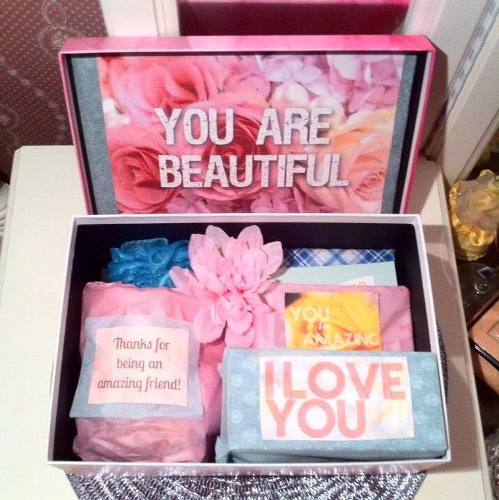 ‪I just finished this I love you Care Package from a best friend. Looking to give an I love you care package called a YouAreBeautifulBox for a wife or girlfriend checkout our etsy