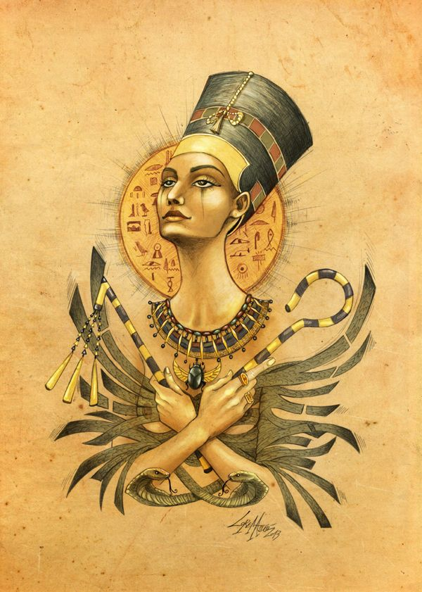 love the detail in this, im guessing she was a pharaoh, shes holding the crook and flail