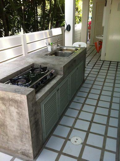 25 ไอเดีย การออกแบบห้องครัวสไตล์ลอฟท์ เคาน์เตอร์ครัว ก่อ