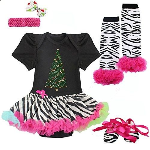 Lovewhitewolf Baby First Brithday Christmas Zebra Tutu Dress Set 0 to 12 Months Large. Check website for more description.