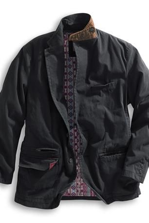 The Go Anywhere Travel Blazer: Destined to become your prized travel companion – it's that versatile and good looking. The gutsy 8.8-oz. washed cotton-nylon canvas is specially treated to repel water and dry quickly. Unlike many other travel jackets, this has a less boxy fit with front darts and back seaming for better shape. Best of all, it has multiple pockets with four outside (two at bottom have flaps that tuck in; one zips) and four inside. Its easy nonchalance is enhanced with a…