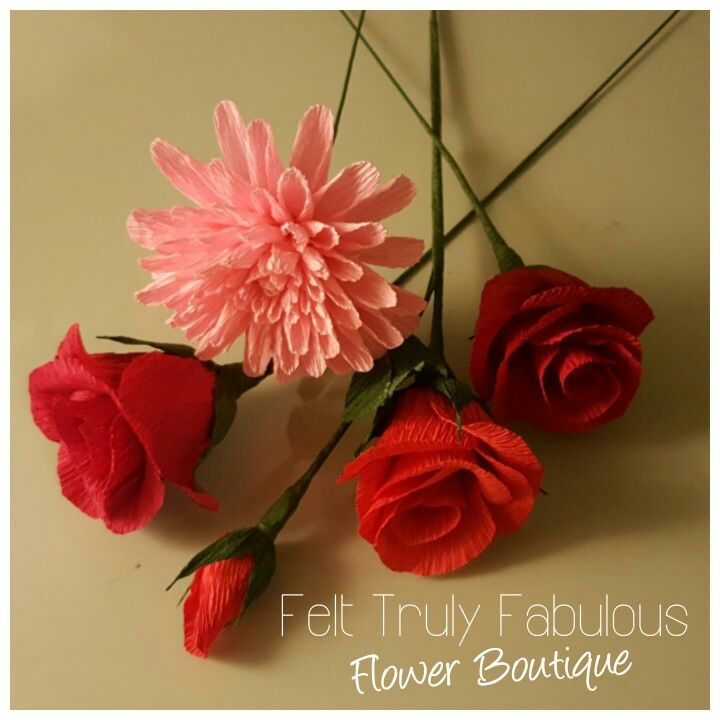 8 best felt truly fabulous flower boutique images on pinterest crepe paper flowers facebookfelttrulyfabulous mightylinksfo