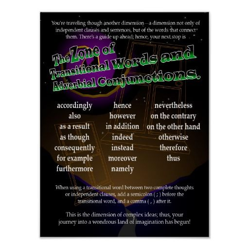 Transitional Words and Adverbial Conjunctions Print