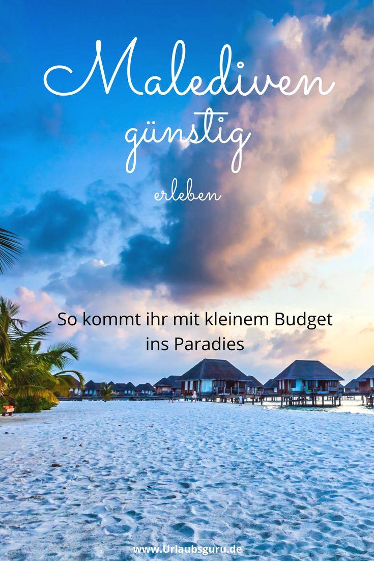 Die Malediven gehören zwar zu den teuersten und exklusivsten Urlaubsorten der Welt, doch ich wäre ja nicht euer Urlaubsguru, wenn ich nicht ein paar Tipps hätte, wie ihr günstig einen Traumurlaub auf den Malediven verbringen könnt! Es gibt nämlich tatsächlich die Möglichkeit, im Paradies zu landen, ohne gleich Unsummen an Geld auszugeben.