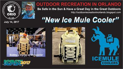 Outdoor Recreation In Orlando: New Ice Mule Cooler Backpack at 2017 ICAST