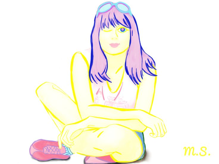 #drawing #picture #colorful #girl #yellow #MarSof