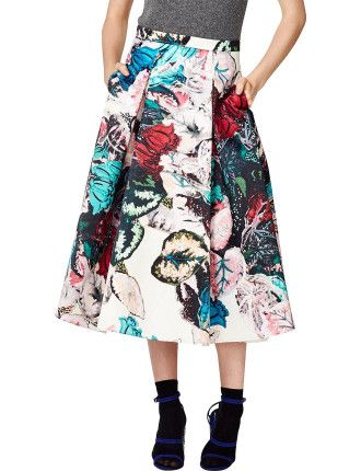 #TreliseCooper Swish Out Of Water Skirt #davidjones #fashion #trend #floral