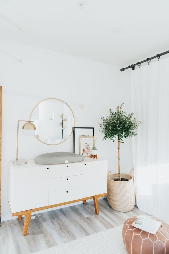 Modern nursery decor | Changing table ideas | Gender neutral ...