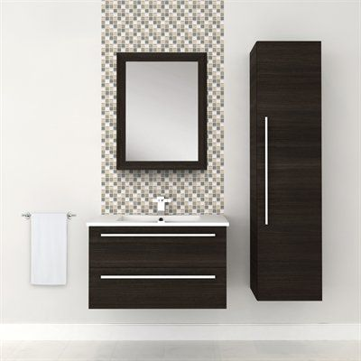Vanity - DARK CHOCOLATE #vanity #drawers #sink #darkcabinets #darkwood #bathrooms #interiordesign #renovations #CutlerKitchenandBath