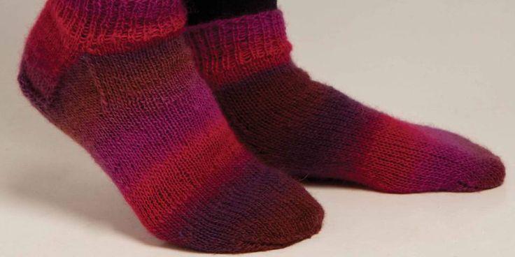 Disse friske sokkene er som skapt for ankelstøvletter. Korte og tynne sånn at de får plass.