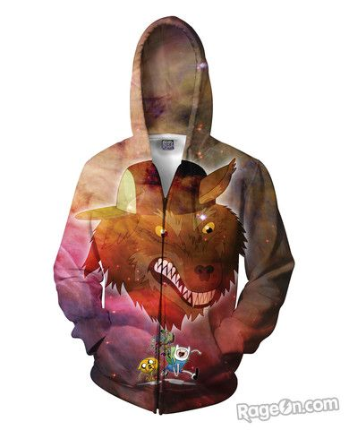 Adventure Time Party God Zip-Up Hoodie - Rage On! - The World's Largest All-Over Print Online Retailer