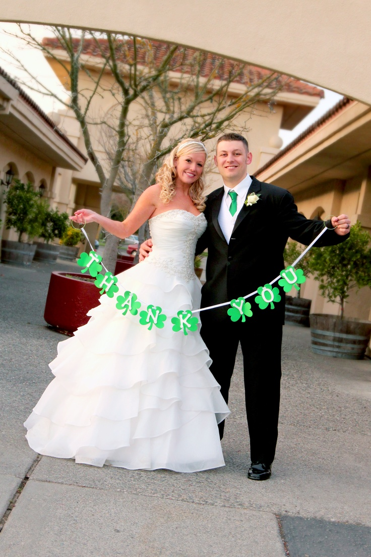 Thank you card made from picture at the Wedding * St. Patrick's Day Wedding * photo by Amy Wilder