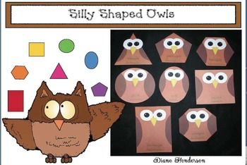 Teach shapes in your classroom with these adorable Silly Shaped Owls. This FREEBIE includes templates to create different owl shaped art in your classroom