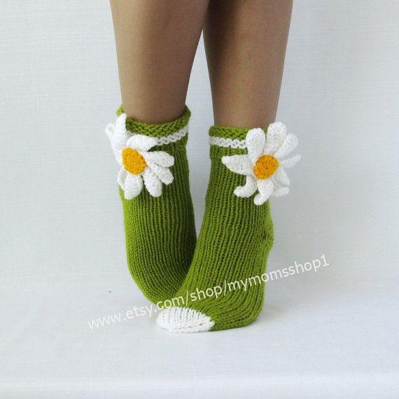 Сamomile Socks women Gifts Women's socks. knit от mymomsshop1
