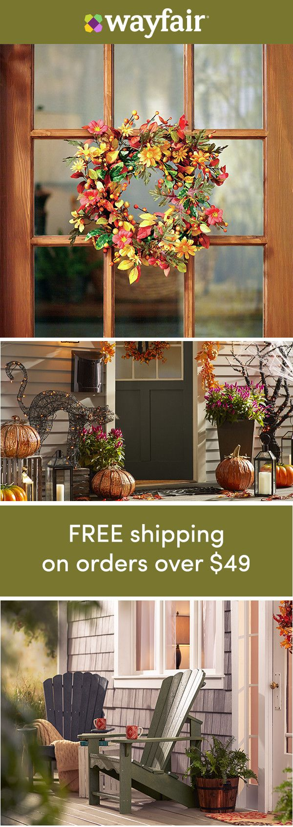Decorating doorways: Sign up for access to exclusive sales and quality finds for every budget! Who says décor has to stay in the house? Surprise and delight with these doorway decorations. Sit back, save, and enjoy FREE shipping on all orders over $49 at