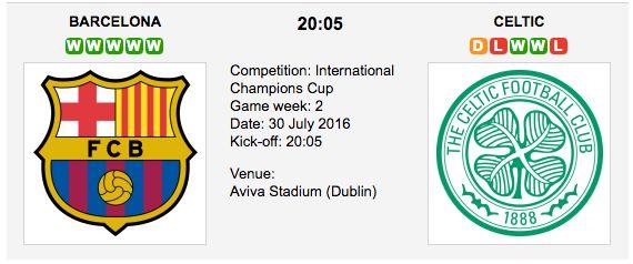Barcelona vs Celtic: Int. Champіons Cup