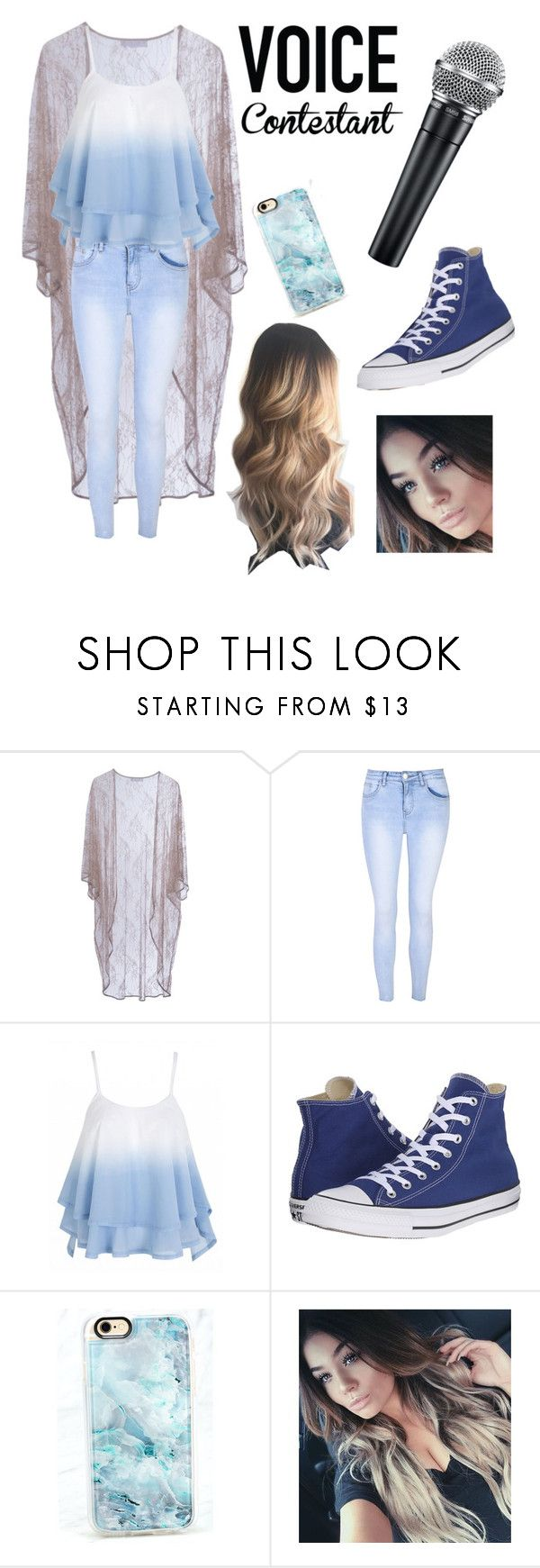 """""""The voice auditions🎤"""" by ixxkimberlyxxi ❤ liked on Polyvore featuring Roses Are Red, Glamorous, Converse, Casetify, thevoice and YahooView"""