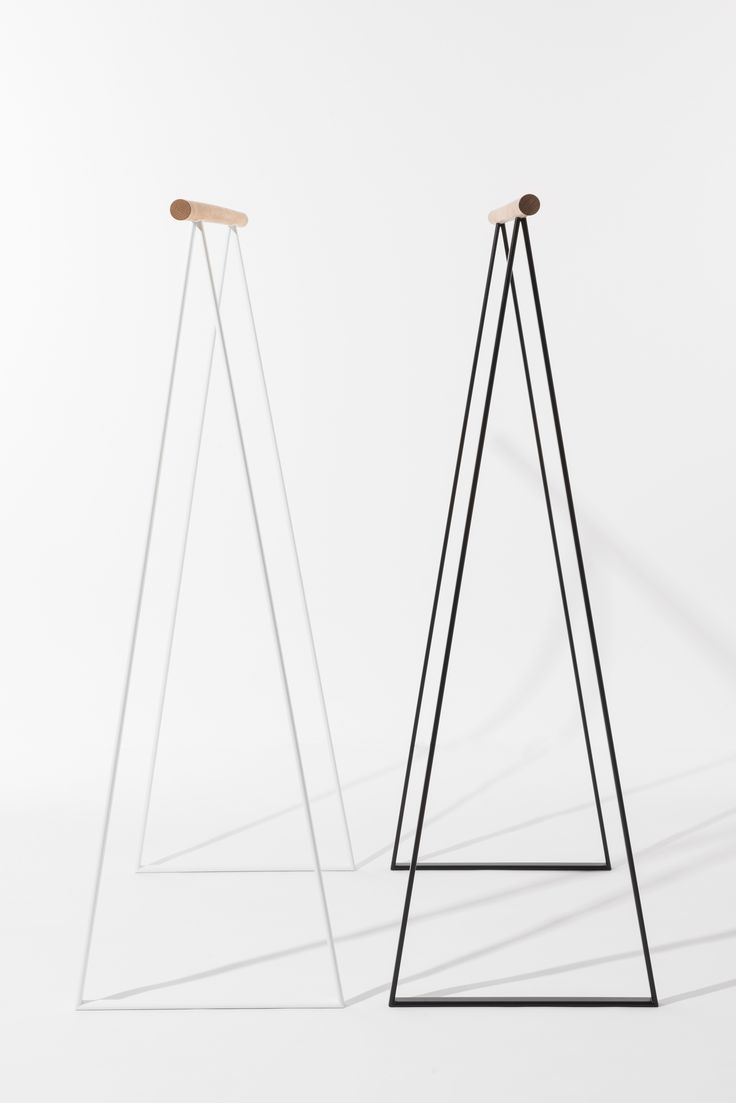 If your closet is overflowing use TRIANGEL. Minimalist clothing rack for your wardrobe. Perfect to complete your  modern home interior design.