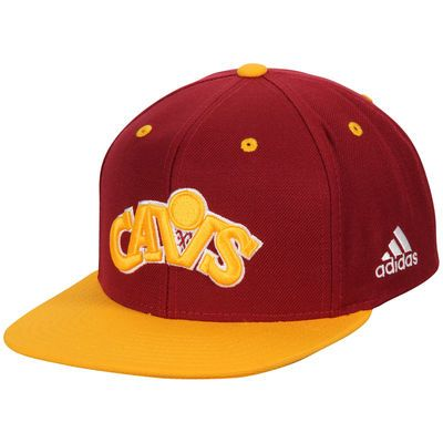Cleveland Cavaliers adidas Jersey Hook Snapback Adjustable Hat - Wine/Gold