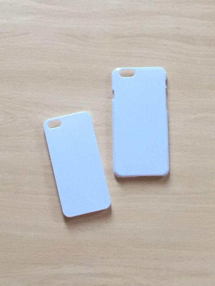 DIY white hard plastic  for iphone 5/5s case or iphone 6 case. for bling deco phone and decoden. carcasa blanca de plástiico de phonecasesmyladies en Etsy