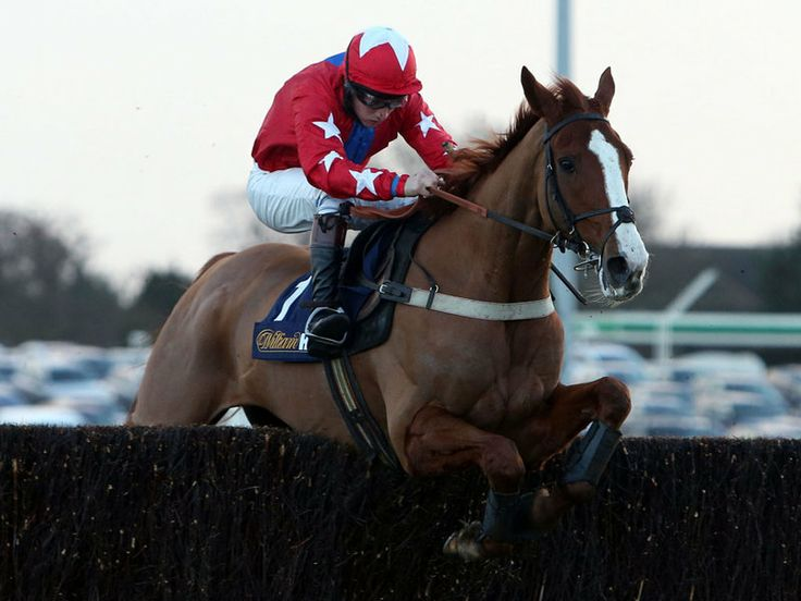 Sire De Grugy winning the Desert Orchid Chase at Kempton, 27 Dec '13.