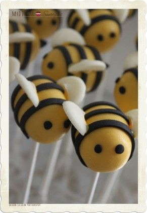 Bumble bee cake pops for the shower?????