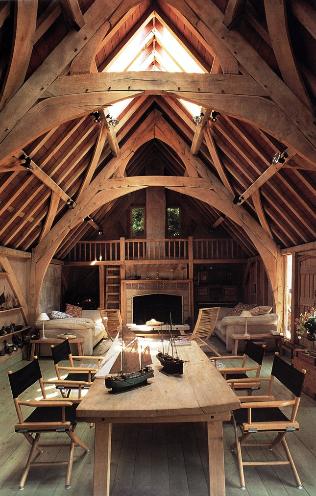 Seagull House barn room, by Roderick James Architects