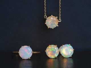 Opal Jewelrys  Ethiopian opal,K18GOLD