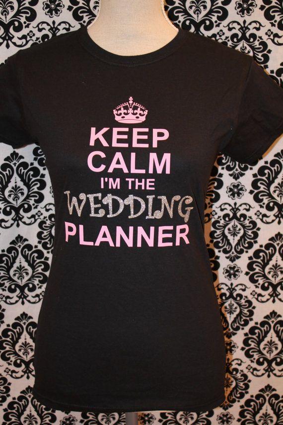 Wedding Planner Gift Glitter Glittery T Shirt By AlliedDeZign 1499