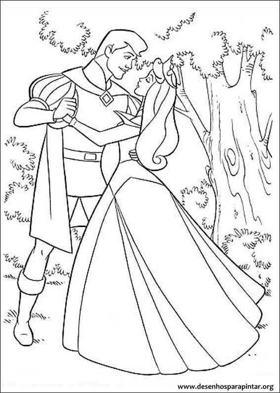 Princesa Aurora A Bela Adormecida Desenhos Para Imprimir Colorir