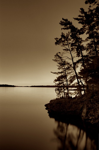 Rainy Lake 11 pm