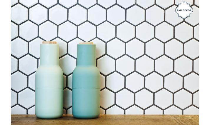 mozaika ceramiczna bialy heksagon matowy piekne kafle do nowoczesnych mieszkan