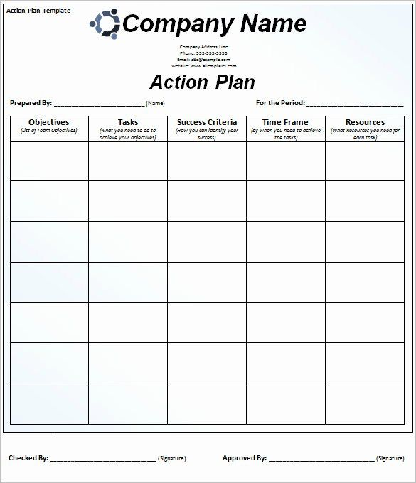 30 Free Action Plan Template In 2020 With Images Action