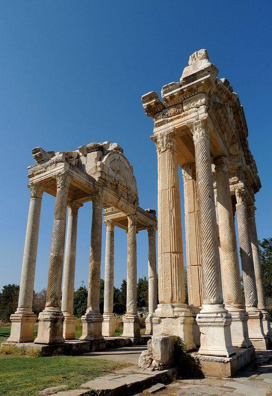 Tetrapylon Gate in Ancient Greek City of Aphrodisias, Turkey (by Anita363 on Flickr)