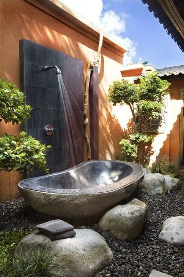 70 best Garden bath images on Pinterest | Bathroom, Outdoor showers ...